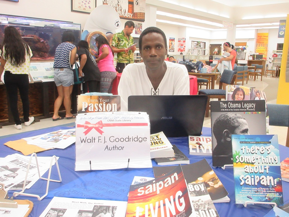 Author, Walt Goodridge, at the Joeten-Kiyu Public Library 26th Anniversary  Author Meet & Greet event! You should have been there!