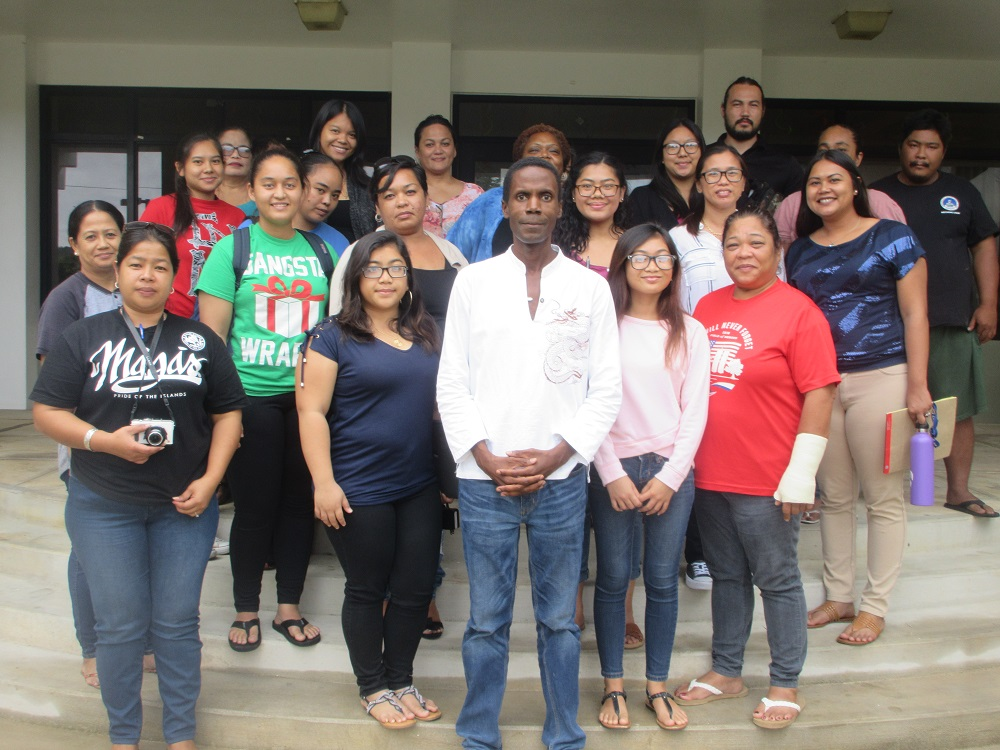 Tinian's first Writer's Workshop on Friday, July 13, 2018
