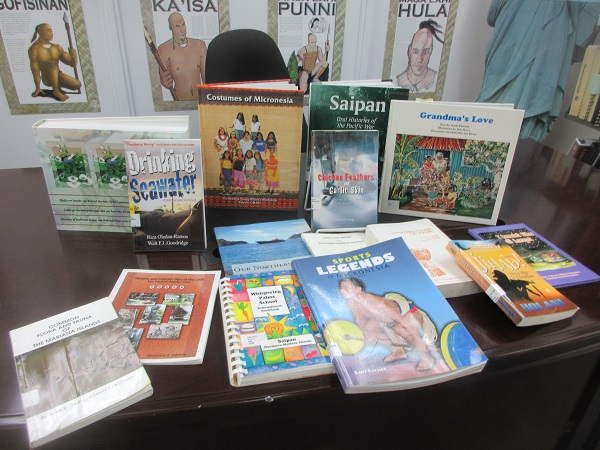 a collection of books by Saipan authors